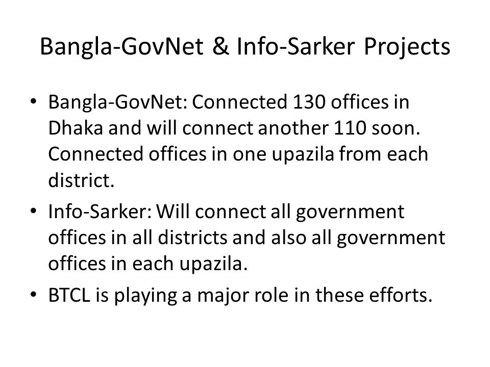 Bangla-GovNet & Info-Sarker Projects