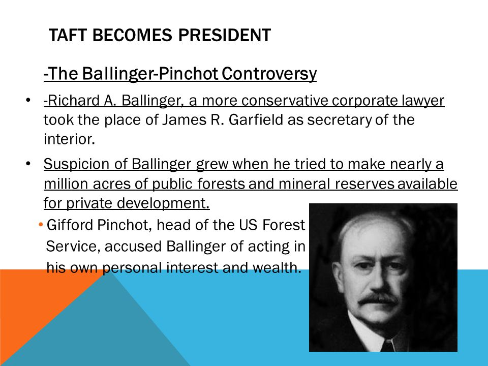 Taft Becomes President