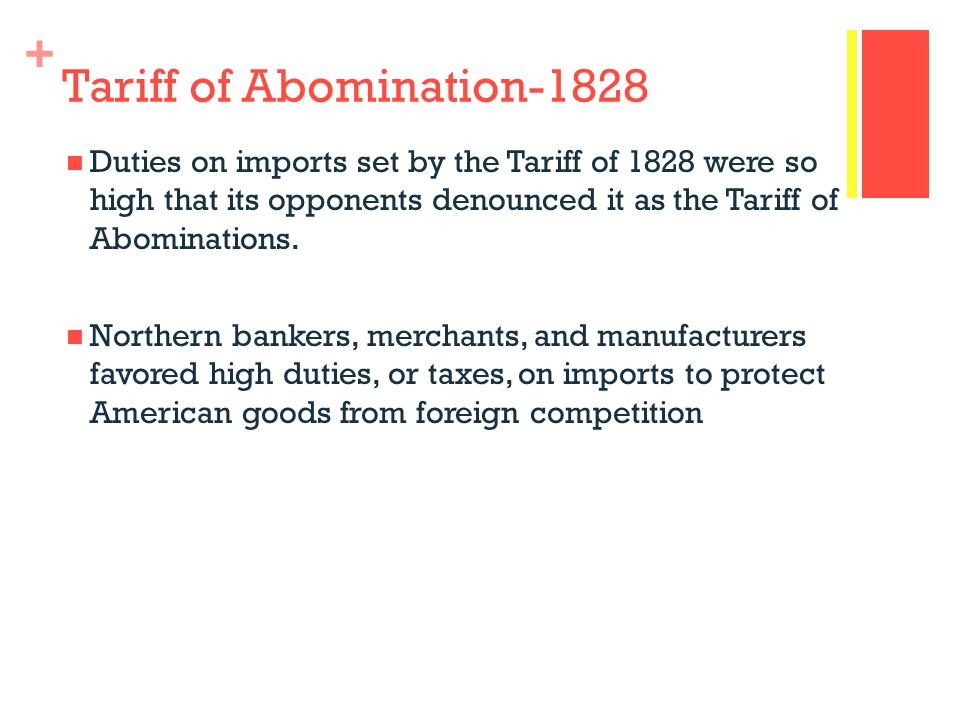 Tariff of Abomination-1828