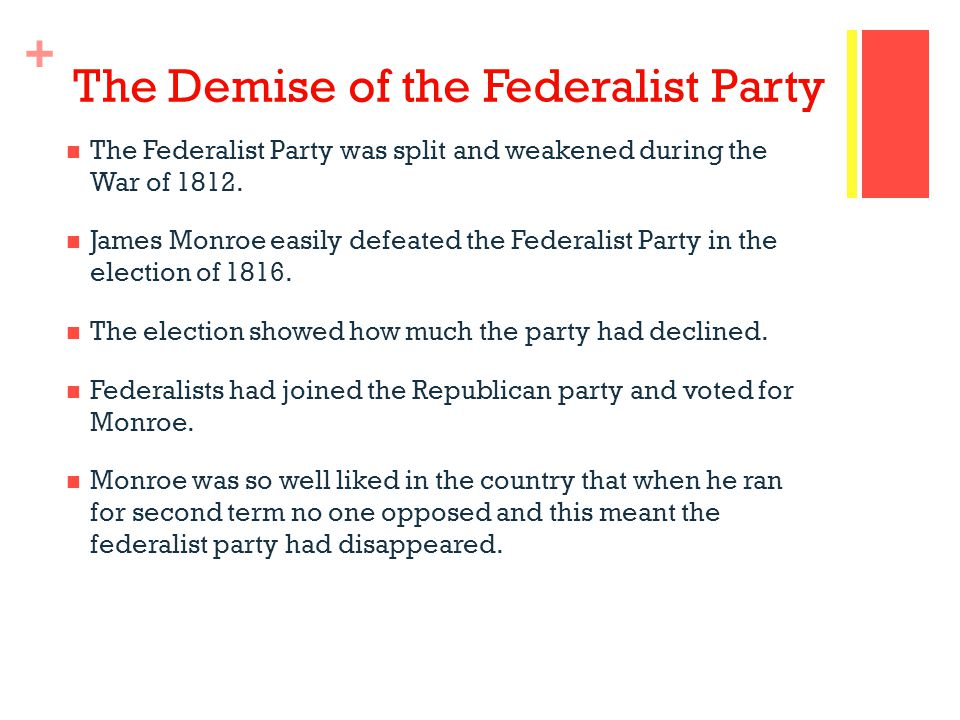 The Demise of the Federalist Party