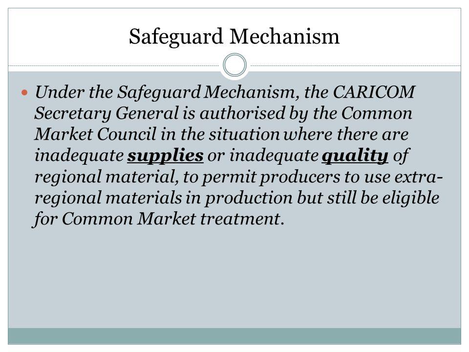 Safeguard Mechanism