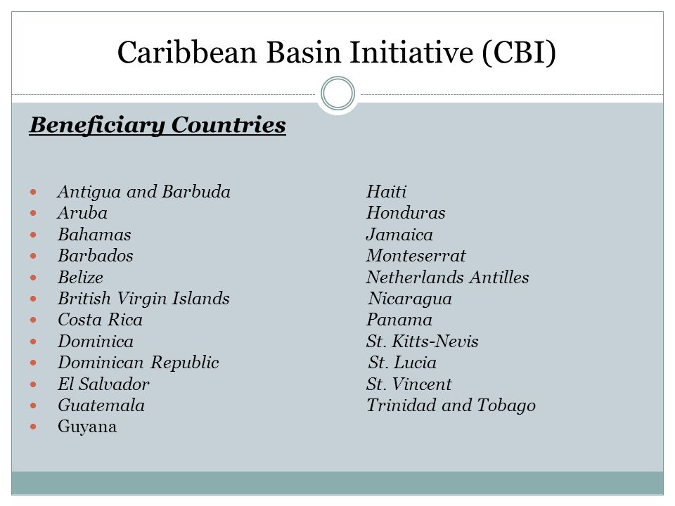 Caribbean Basin Initiative (CBI)