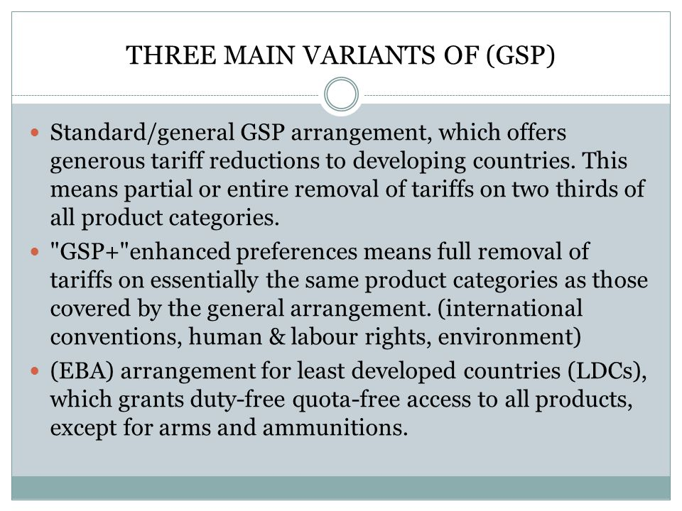 THREE MAIN VARIANTS OF (GSP)