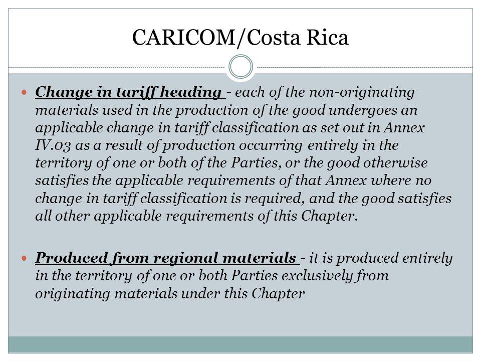 CARICOM/Costa Rica