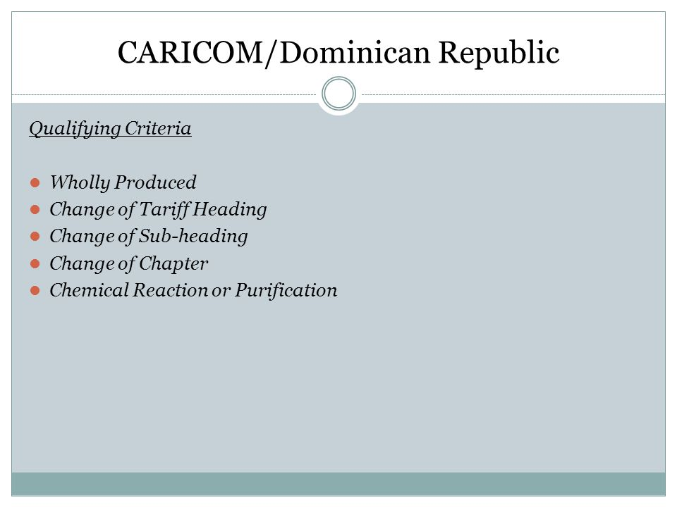 CARICOM/Dominican Republic