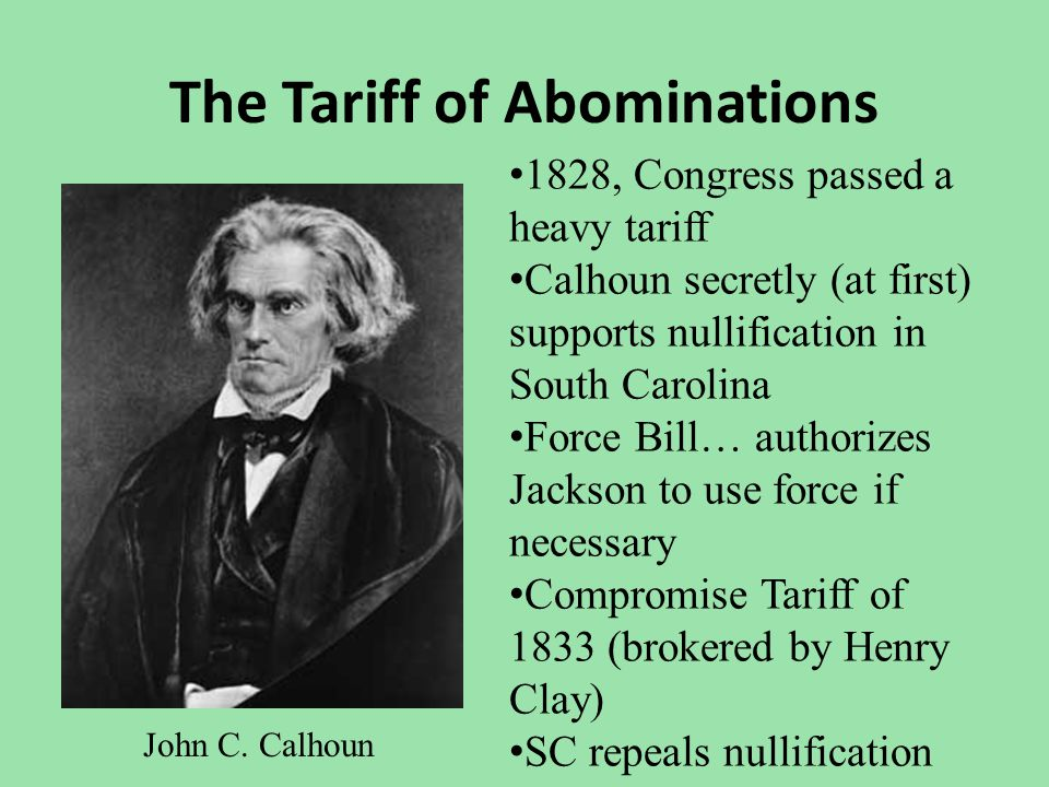 The Tariff of Abominations