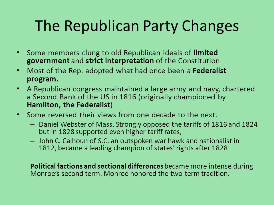 The Republican Party Changes