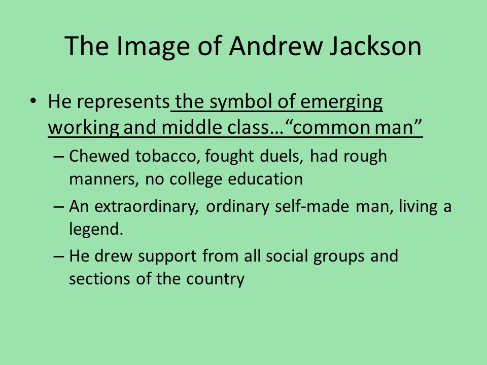 The Image of Andrew Jackson