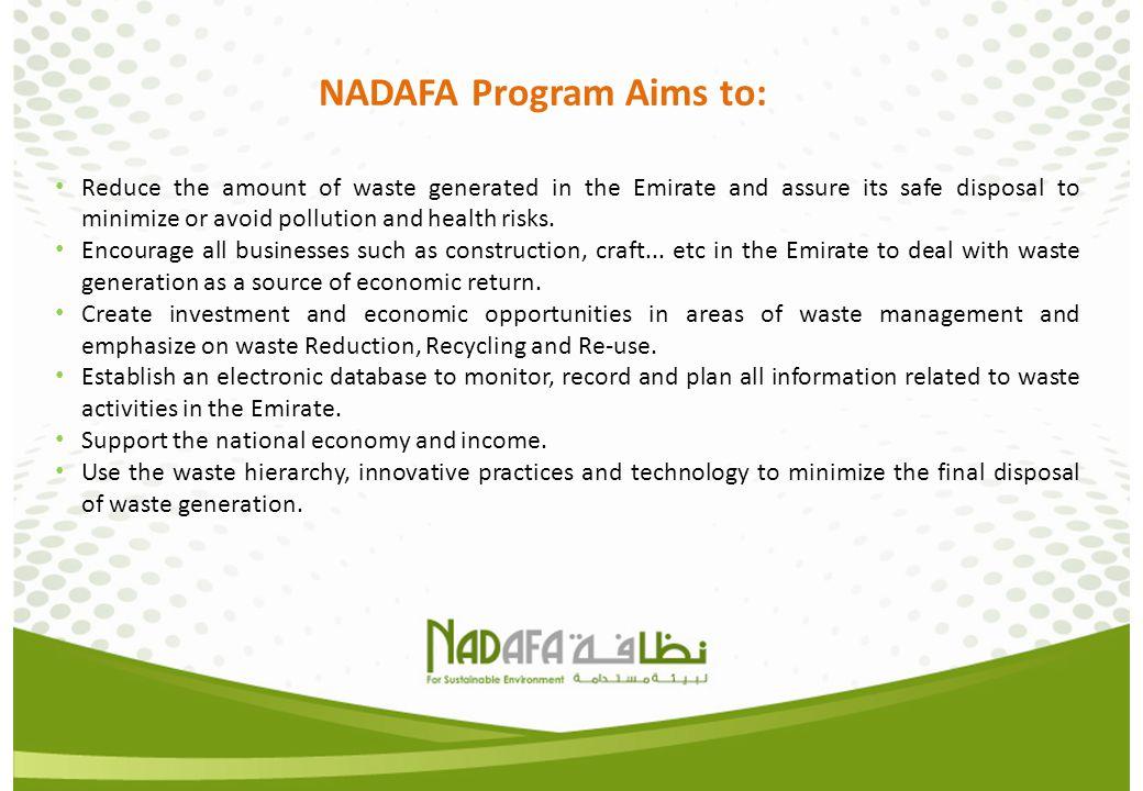 NADAFA Program Aims to: