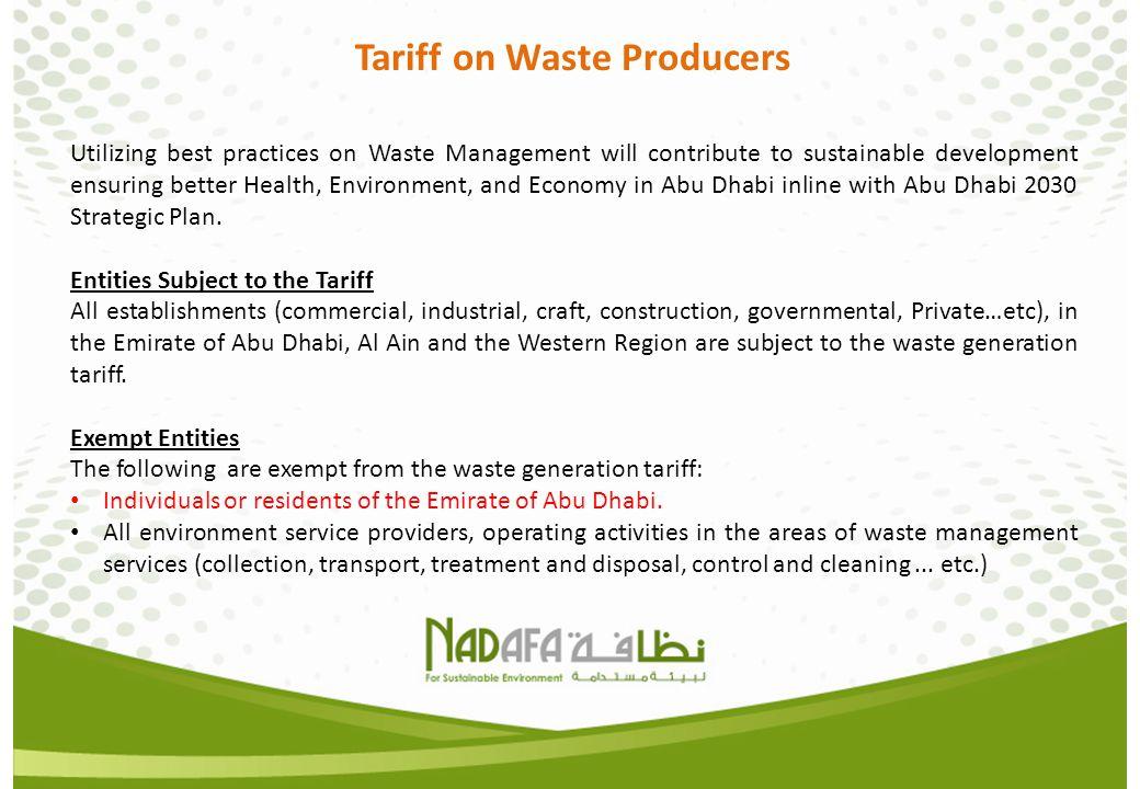 Tariff on Waste Producers