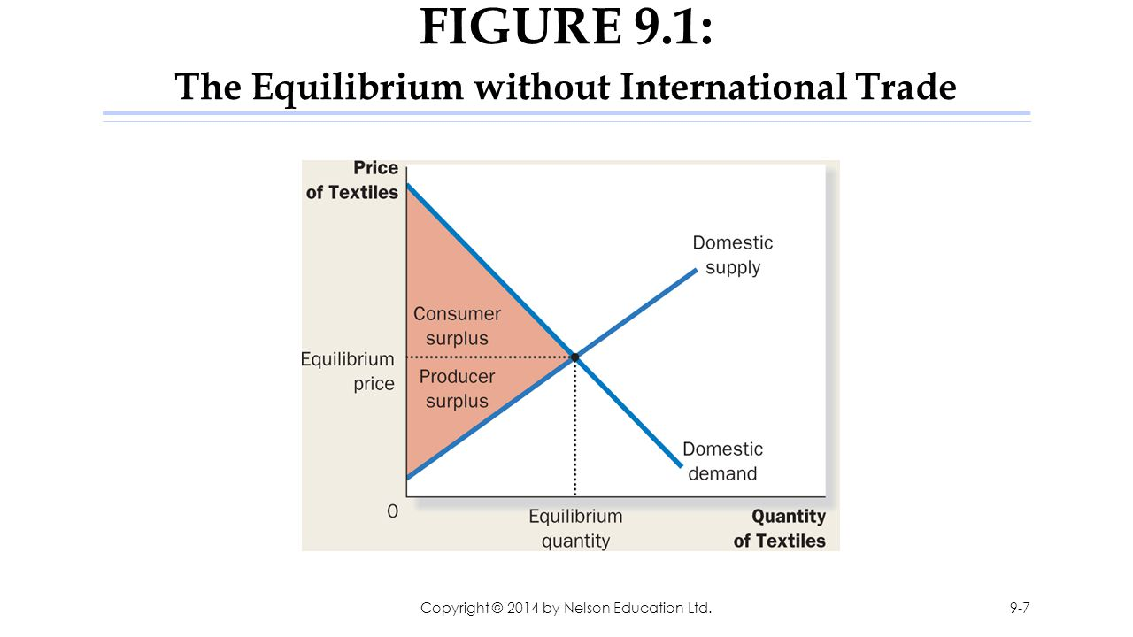 FIGURE 9.1: The Equilibrium without International Trade