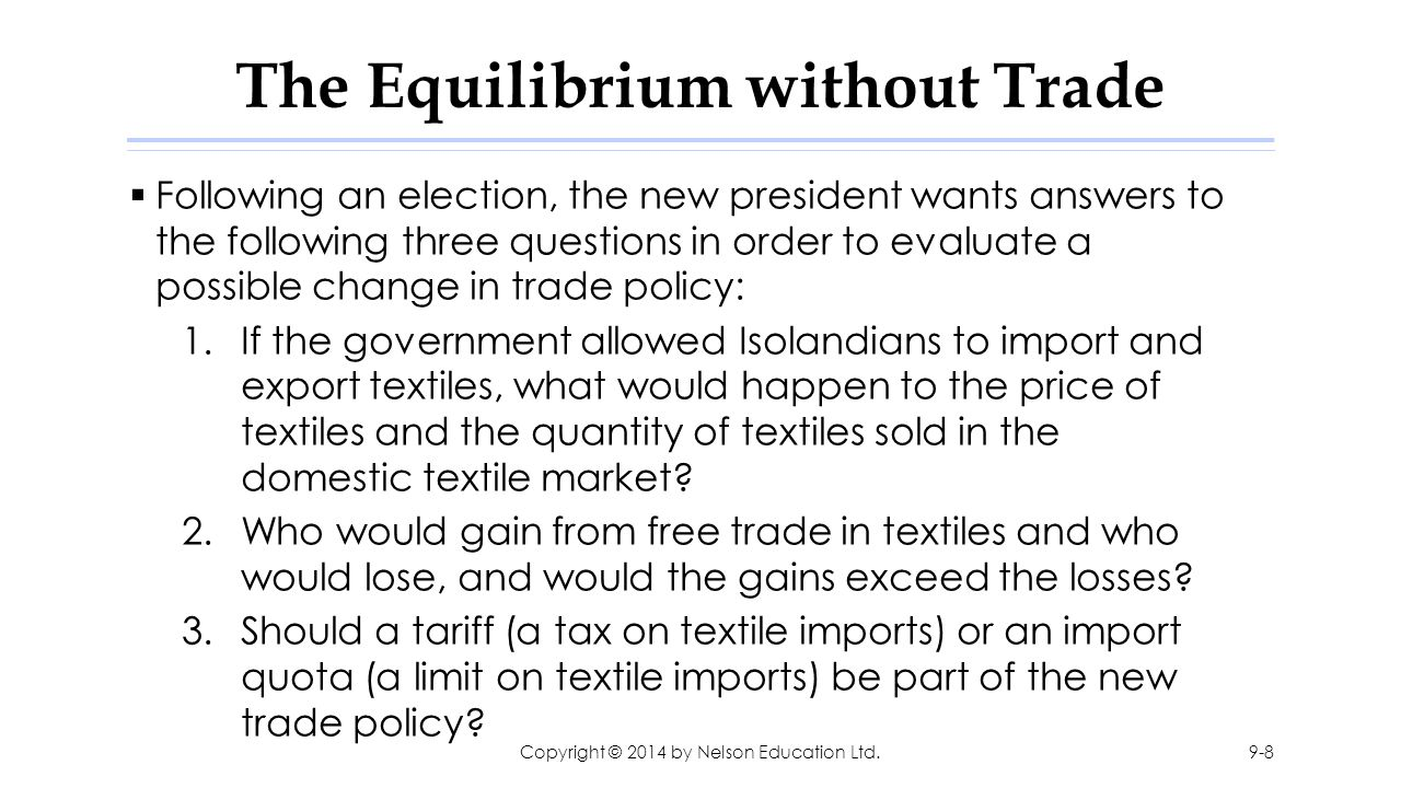 The Equilibrium without Trade