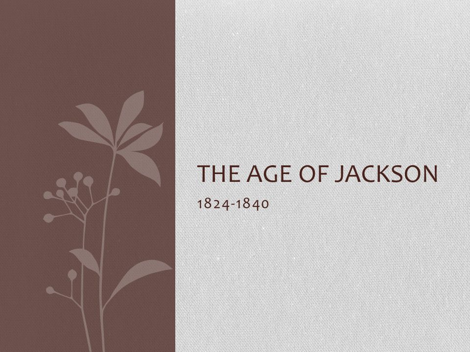 The Age of Jackson 1824-1840