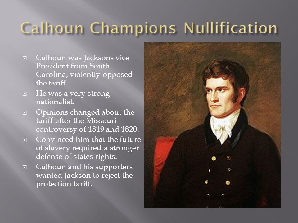 Calhoun Champions Nullification