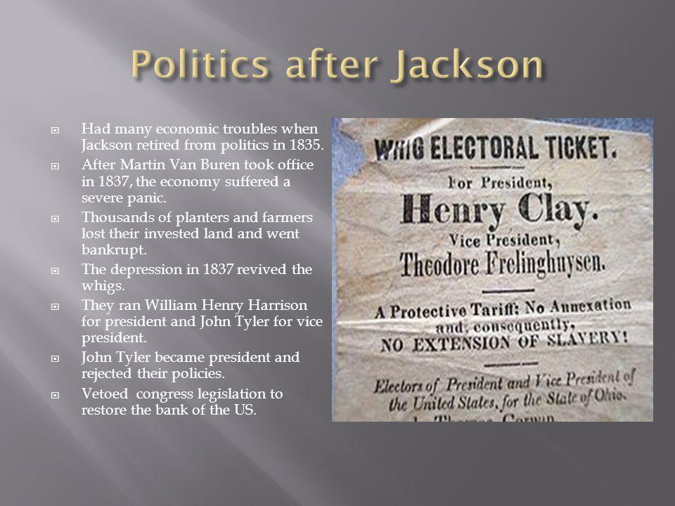 Politics after Jackson