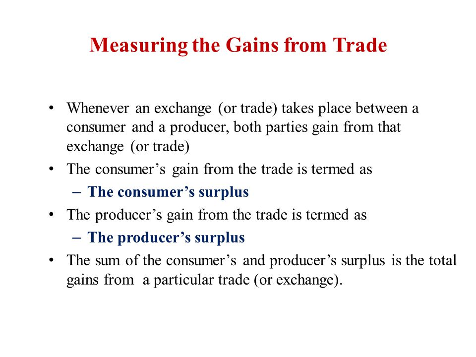 Measuring the Gains from Trade