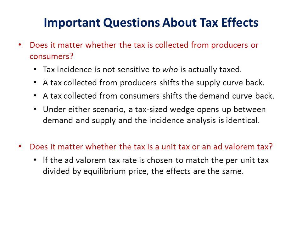 Important Questions About Tax Effects