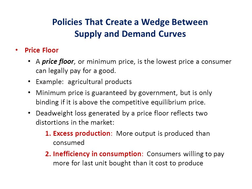 Policies That Create a Wedge Between Supply and Demand Curves