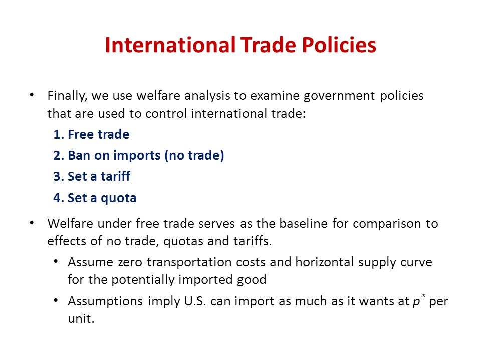 International Trade Policies