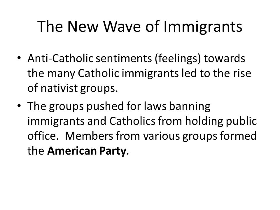 The New Wave of Immigrants