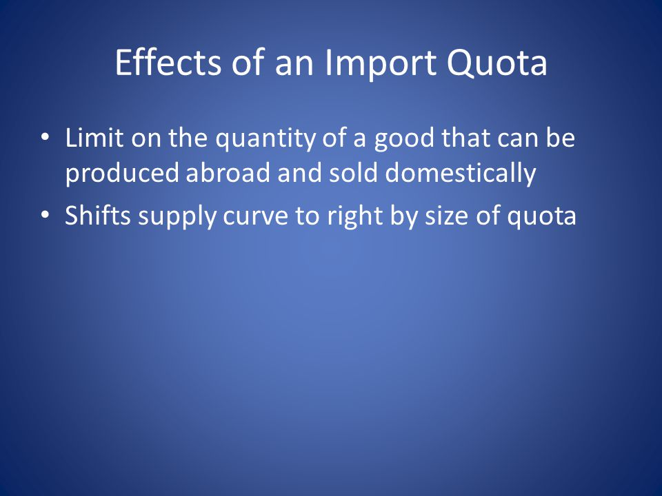 Effects of an Import Quota