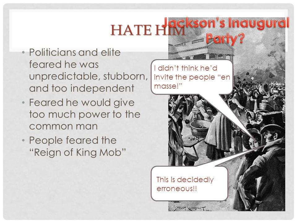 Jackson's Inaugural Party