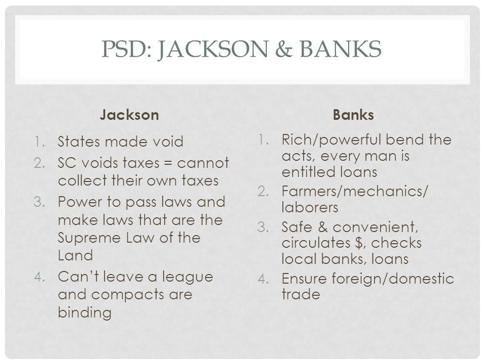 PSD: Jackson & Banks Jackson Banks States made void