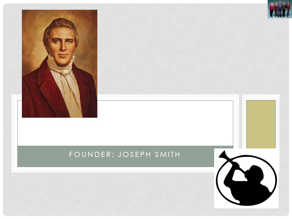 Mormons Founder: Joseph Smith