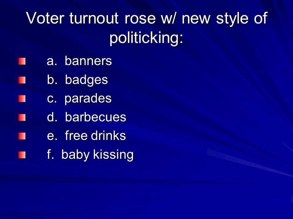 Voter turnout rose w/ new style of politicking: