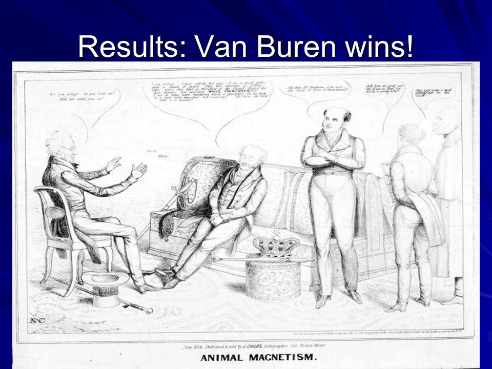 Results: Van Buren wins!