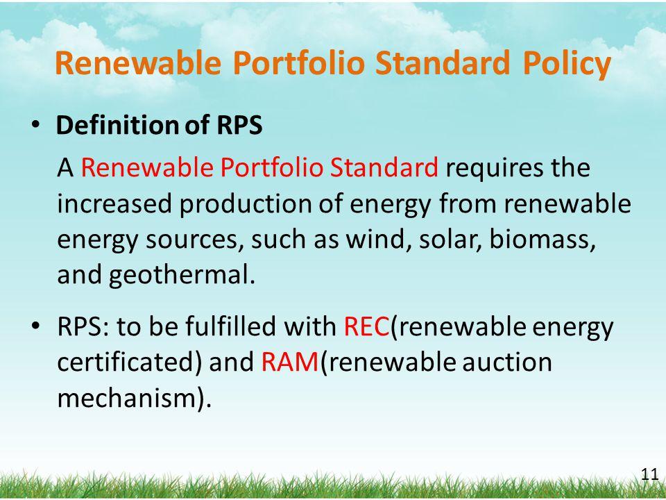 Renewable Portfolio Standard Policy