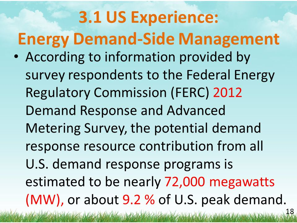 3.1 US Experience: Energy Demand-Side Management