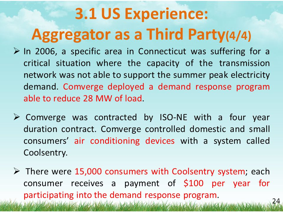 3.1 US Experience: Aggregator as a Third Party(4/4)