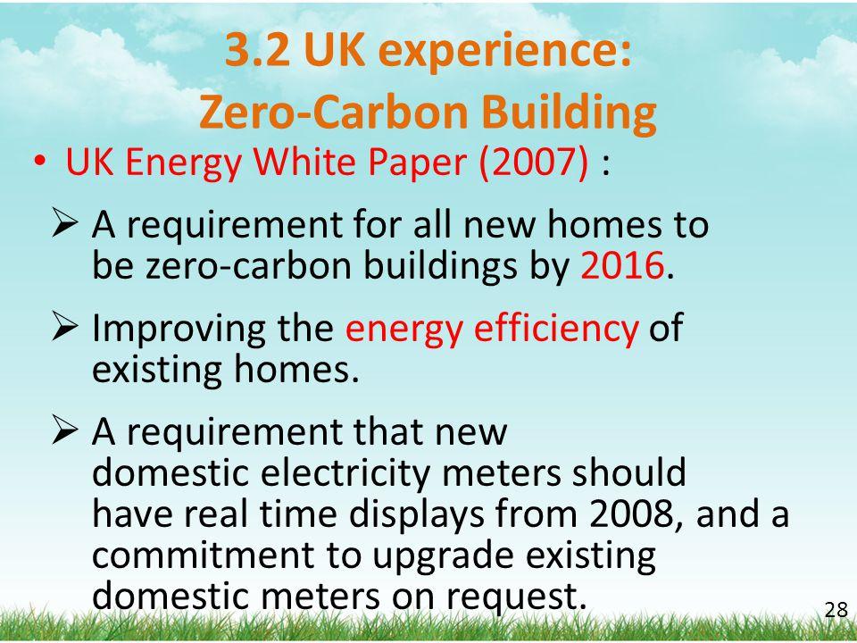 3.2 UK experience: Zero-Carbon Building