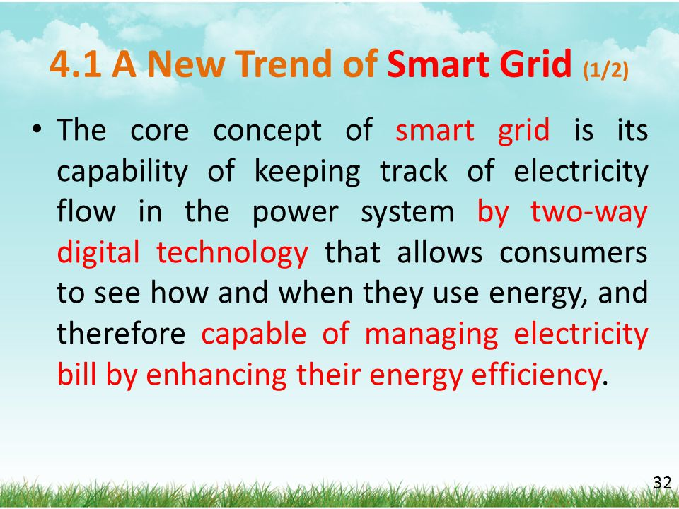 4.1 A New Trend of Smart Grid (1/2)