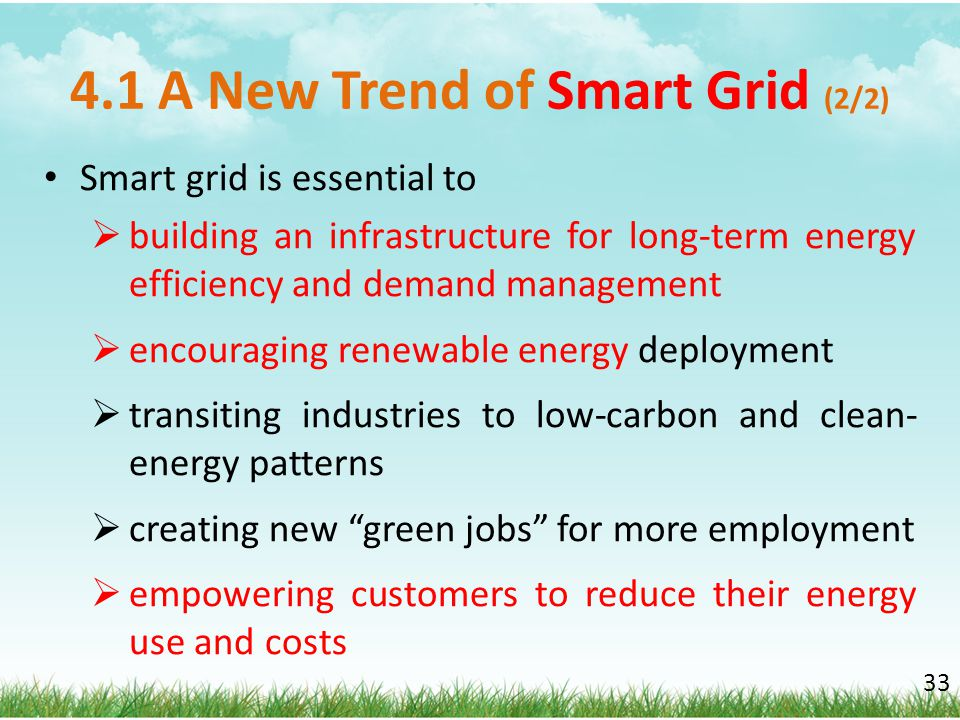 4.1 A New Trend of Smart Grid (2/2)