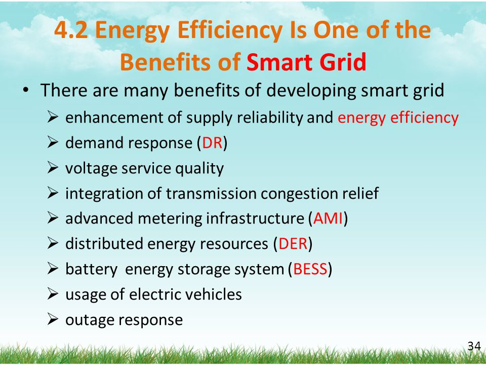 4.2 Energy Efficiency Is One of the Benefits of Smart Grid