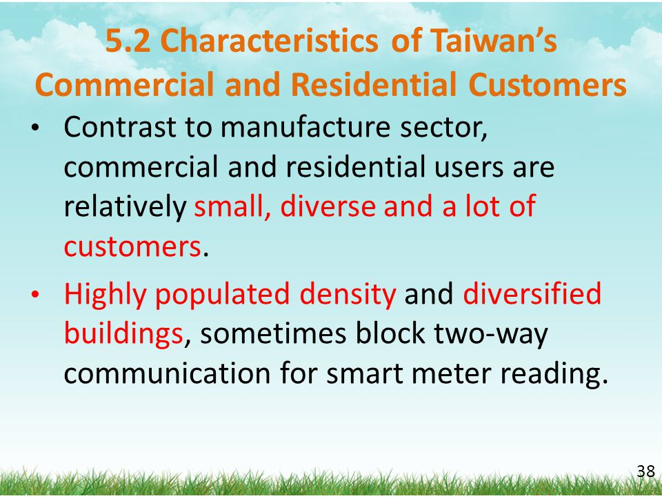 5.2 Characteristics of Taiwan's Commercial and Residential Customers