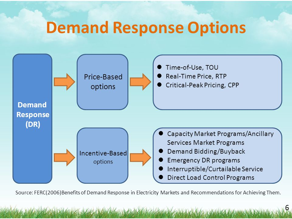 Demand Response Options