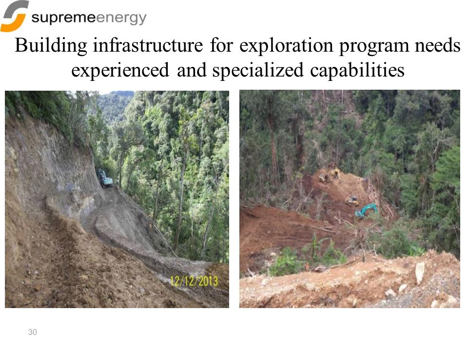 Building infrastructure for exploration program needs experienced and specialized capabilities