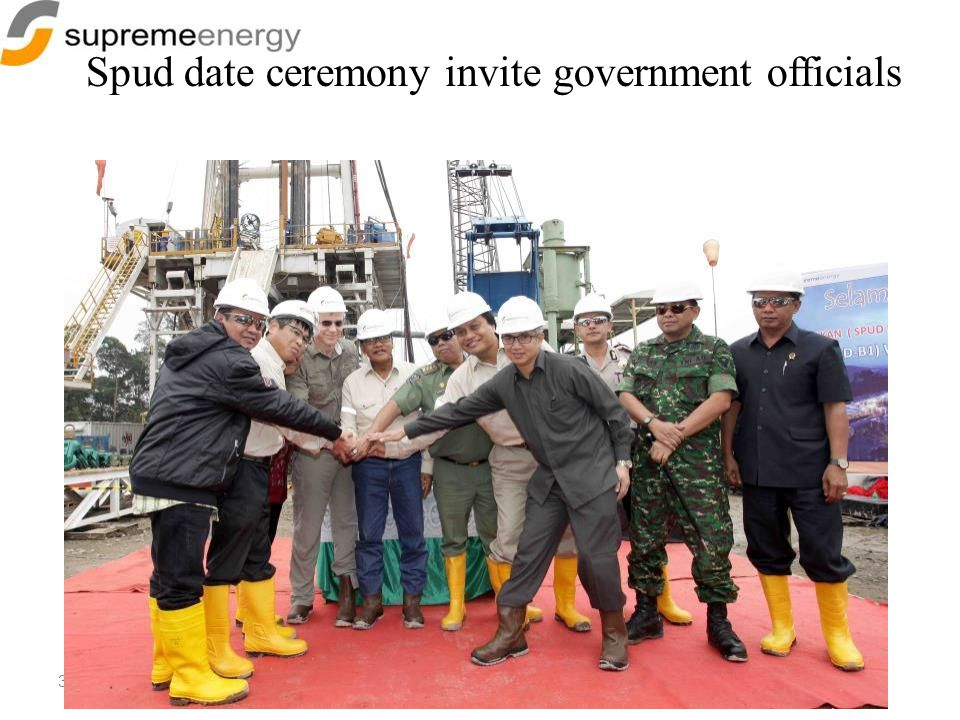 Spud date ceremony invite government officials