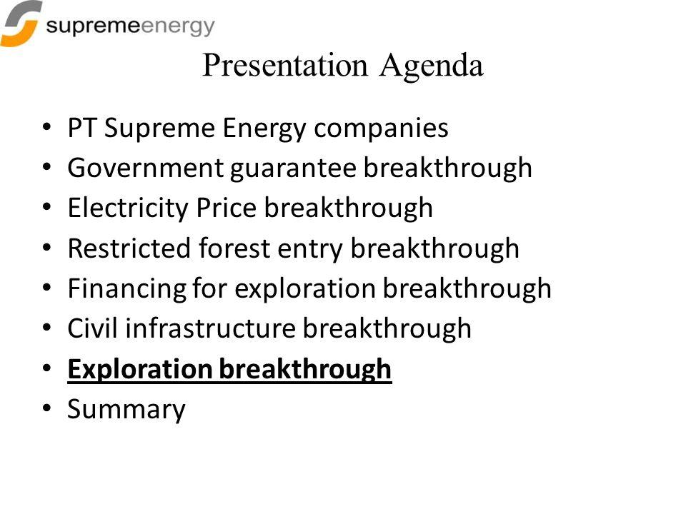 Presentation Agenda PT Supreme Energy companies
