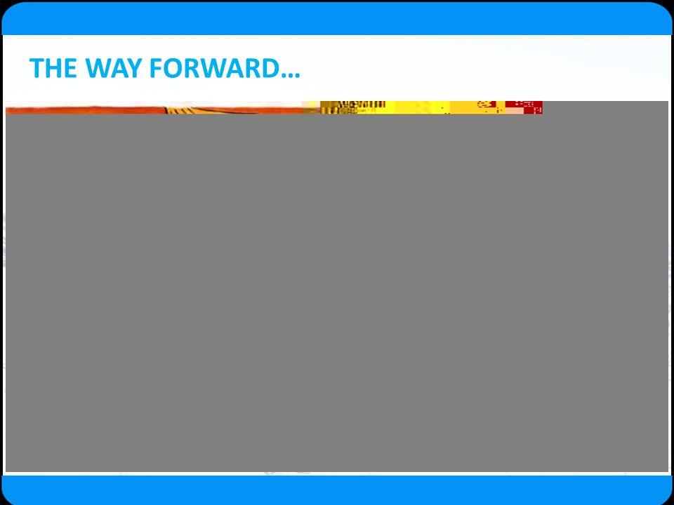 THE WAY FORWARD…