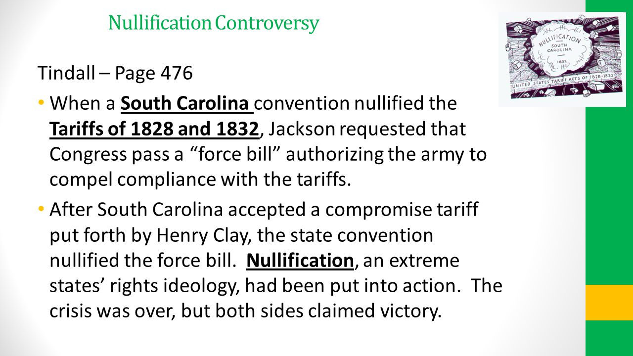 Nullification Controversy