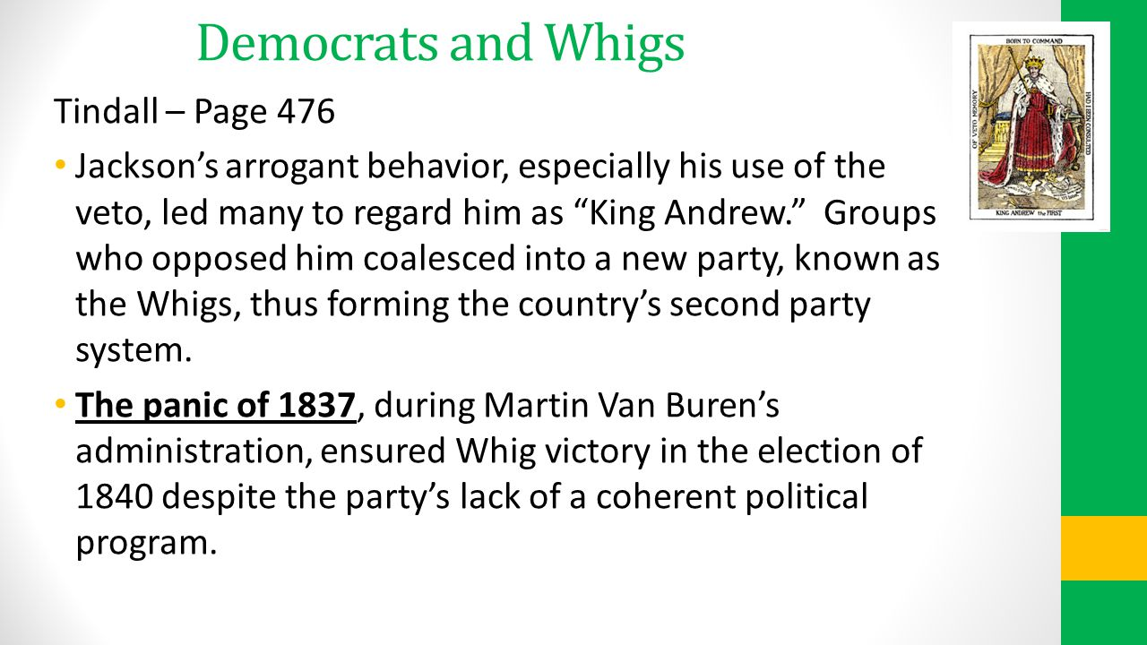 Democrats and Whigs Tindall – Page 476