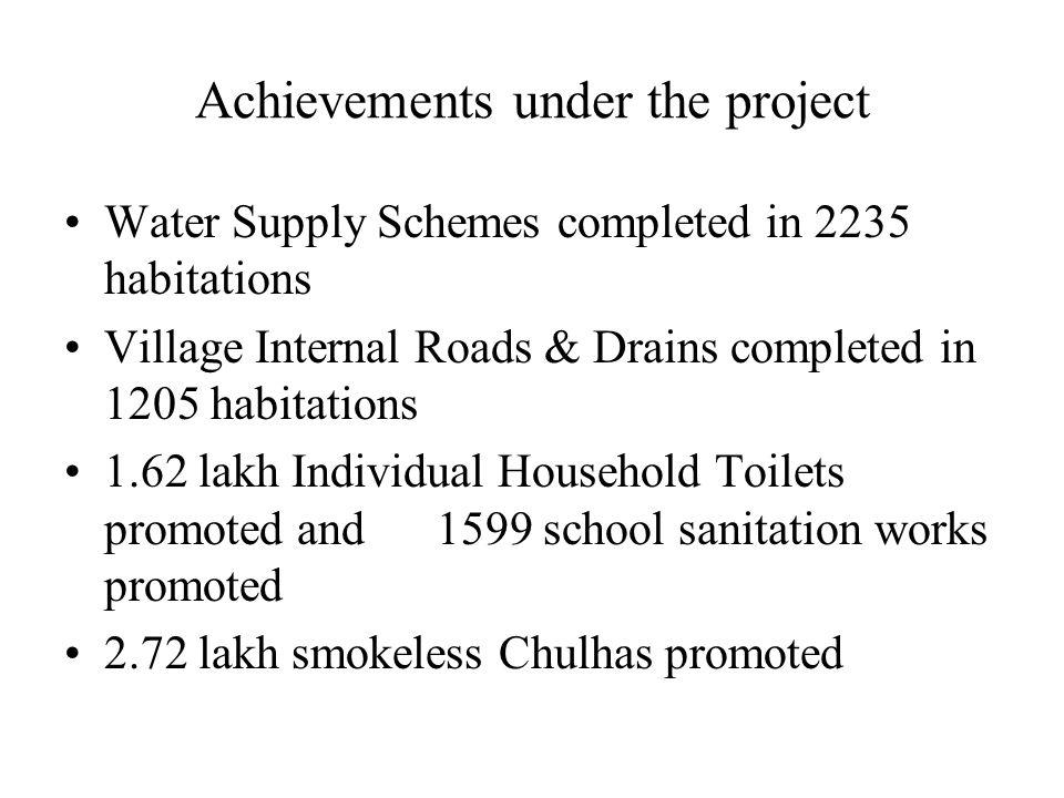 Achievements under the project