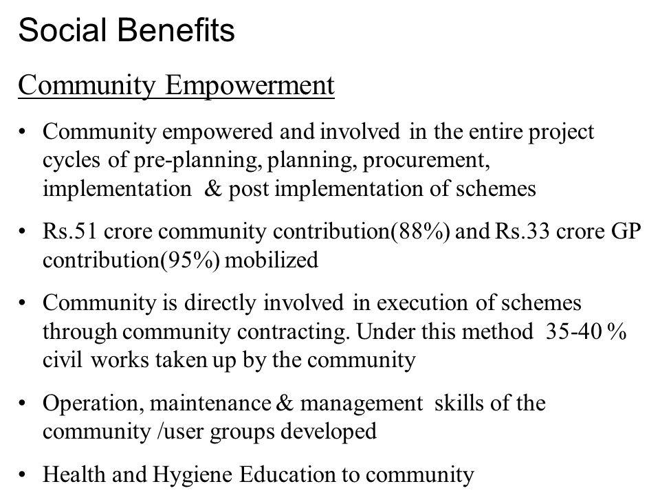 Social Benefits Community Empowerment