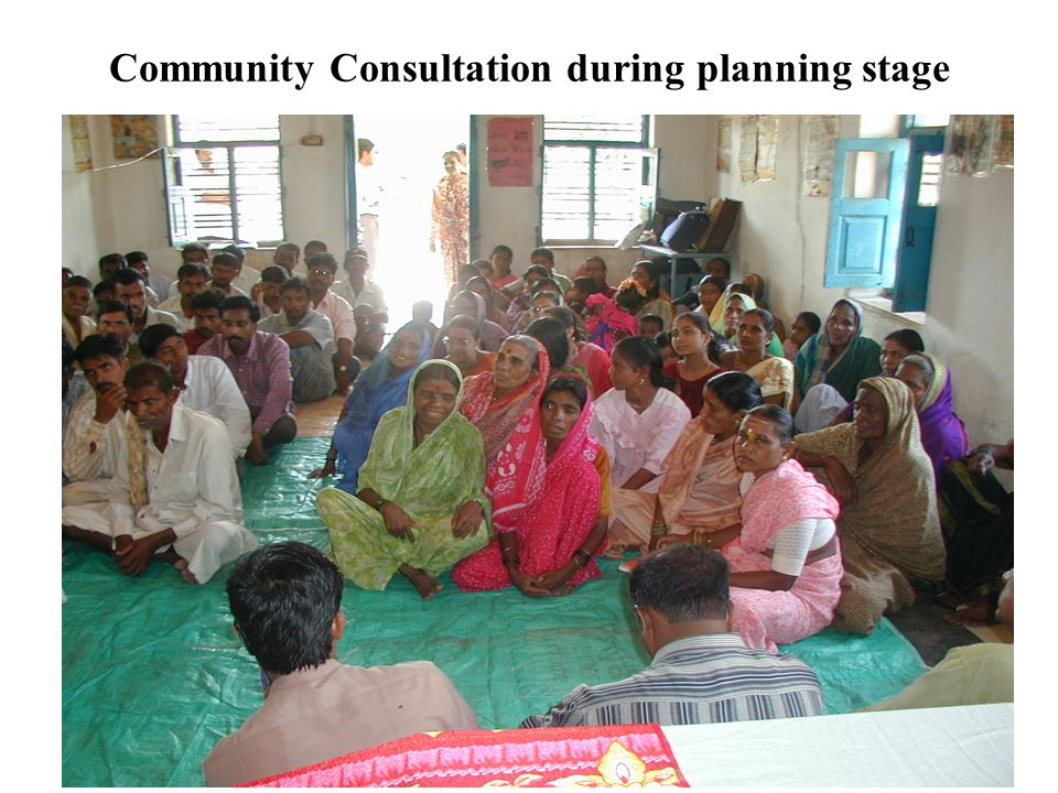 Community Consultation during planning stage