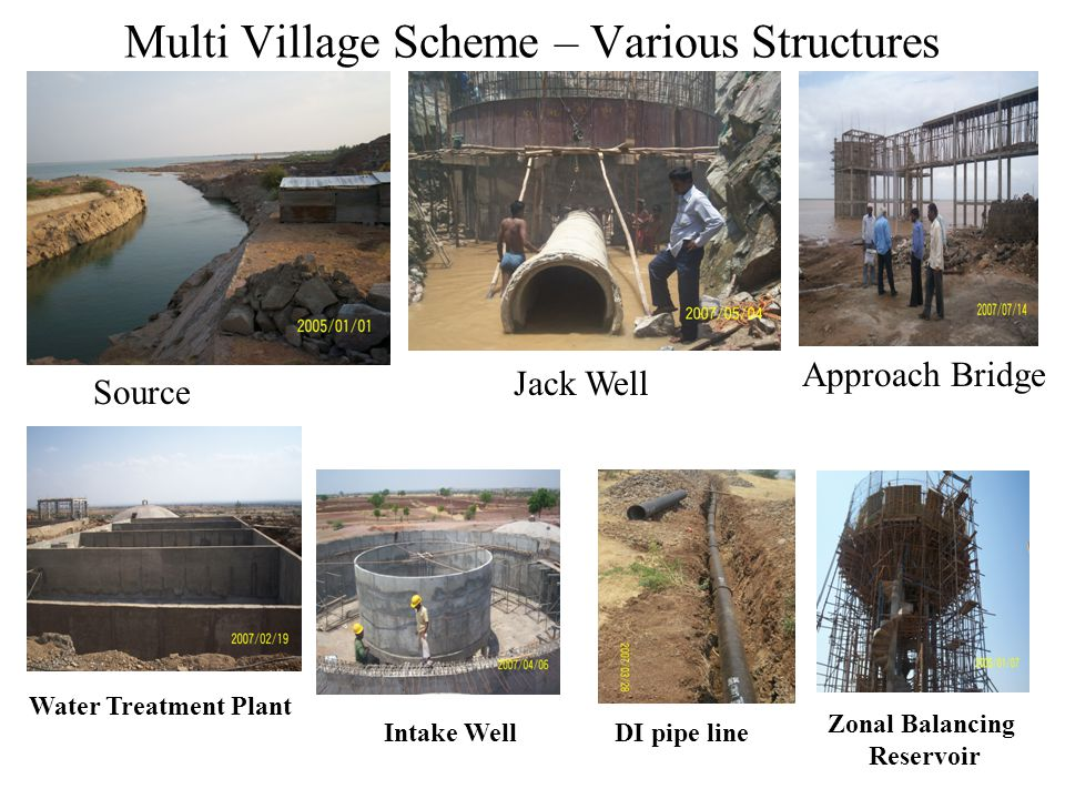 Multi Village Scheme – Various Structures