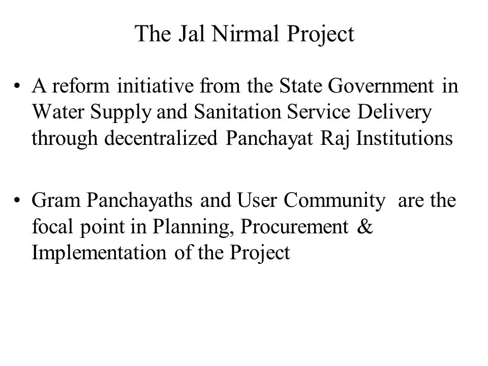 The Jal Nirmal Project
